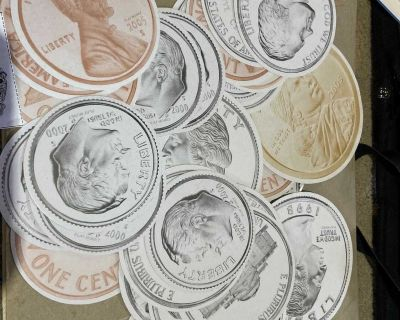 Large paper coins