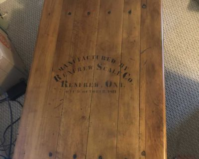 Antique Scale Table