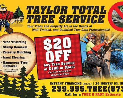 Tree Service - Remove, Trim, Grind, Clear