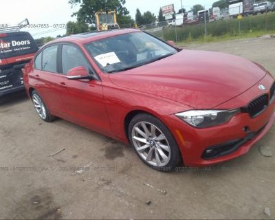 Salvage Red 2017 Bmw 3 Series
