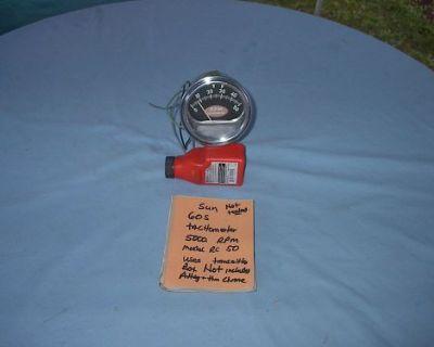 1960s Sun Rc 50 Tachometer Galaxie Farelane Nova Chevele Camoro 5000 Rpm