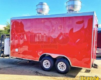 Lightly Used 2020 8.6' x 16' Food Trailer / Commercial Mobile Kitchen