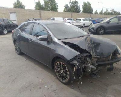 Salvage Blue 2015 Toyota Corolla