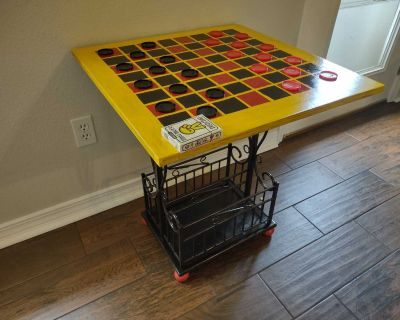 Hand crafted checkers/game table