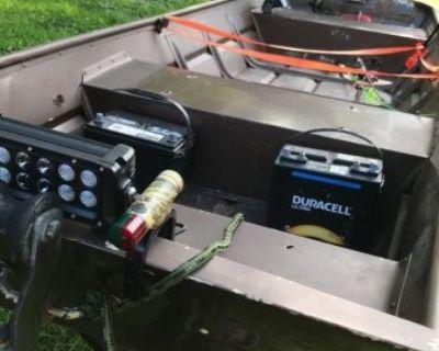 FS 14ft jon boat with 15 hp johnson