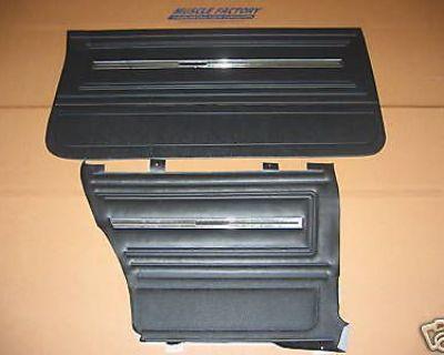66 Chevelle Coupe Front & Rear Door Panels Set Black