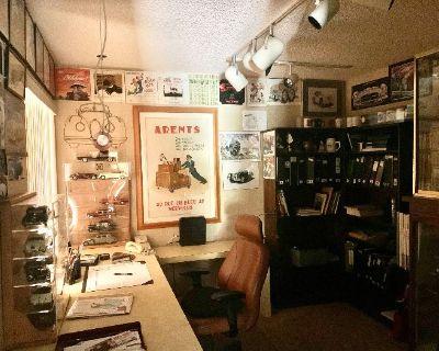 Estate Sale w/ 80s Modern Furniture, Vintage Model Cars, Art Glass & Art Books