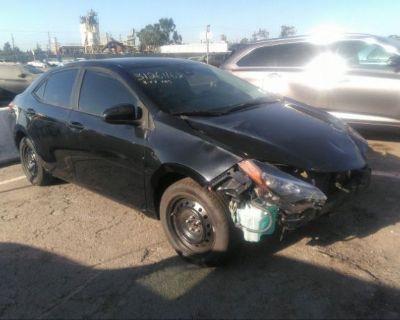 Salvage Black 2019 Toyota Corolla
