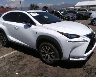 Salvage White 2017 Lexus Nx