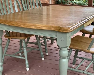 Solid wood table w/4 chairs ready for your project!