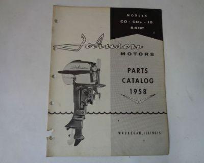 1958 Johnson Parts Catalog 5.5 Hp Motors @@@check This Out@@@