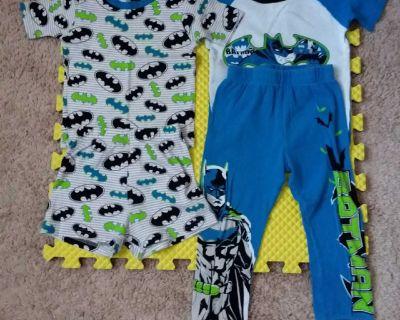 Boys Super Heros Short Sleeve Shirts, Shorts, & Pants Pajama Sets - Size 6