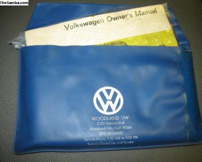[WTB] Ogner VW dealership owner manual cover pouch