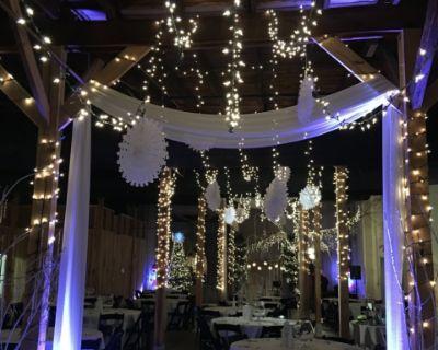 Rural, Rustic Wood Ballroom with Bar, Gallatin, TN