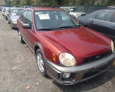 Salvage Red 2003 Subaru Impreza Wagon