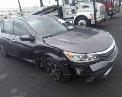 Salvage Gray 2016 Honda Accord Sedan