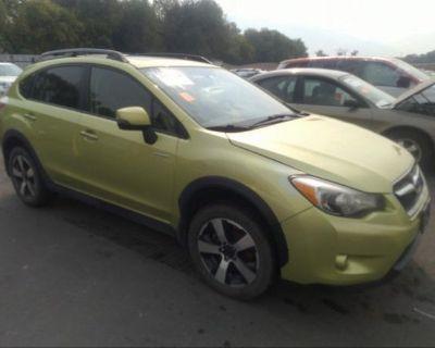 Salvage Green 2014 Subaru Xv Crosstrek Hybrid
