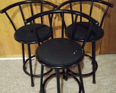 3 counter height chairs
