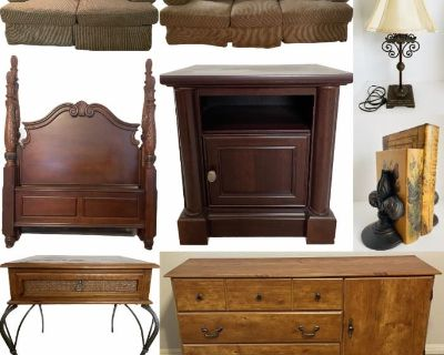 Friendswood Online Estates Liquidation: Wonderful Furniture - Iron Patio Set - Oil Paintings - Etc.
