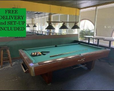 Gandy 9' Tournament Pool Table-FREE DELIVERY and SET-UP INCLUDED!