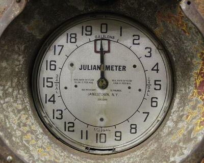 Julian Gas Pump Clock Faces and Tag