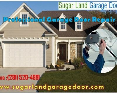 Top Spring and Installation Garage Door Service $25.95  Sugar Land, 77498 TX