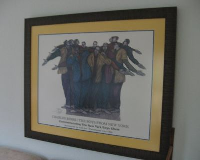 Signed Print, framed and glass