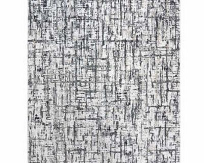 """NEW - 7'10"""" x 10' - CENTENNO GREY ABSTRACT AREA RUG"""