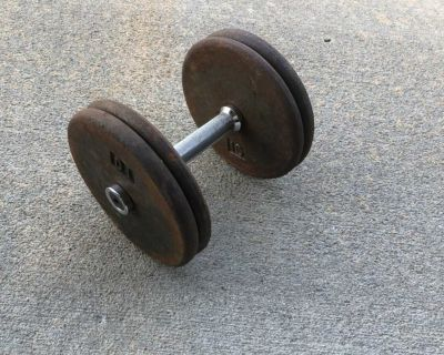 40 pounds of weights