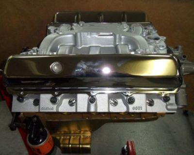 455 Oldsmobile Complete Performance Engine Aluminum Heads Intake Oil Pan Olds