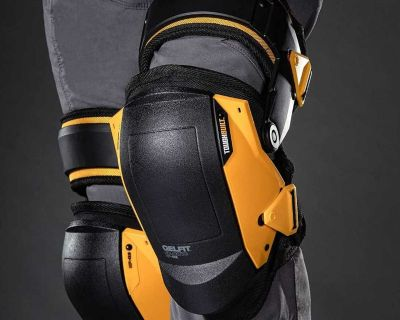 """GELFIT Black Thigh Support Stabilization Knee Pads Toughbuilt. Condition is """"New""""."""