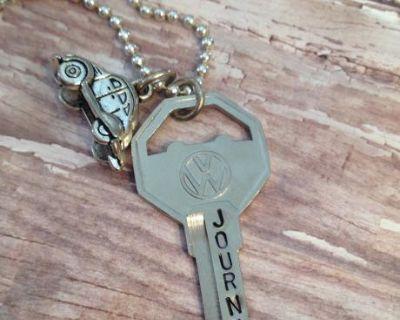VW Key Charm Necklace
