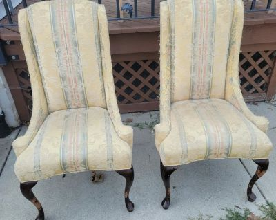 Two Victorian vintage chairs for DIYer