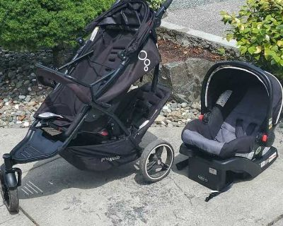 Double stroller and car seat