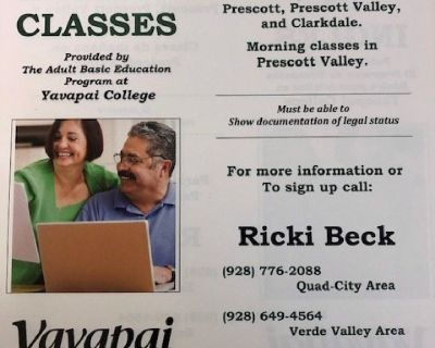 Free English Classes at Yavapai College