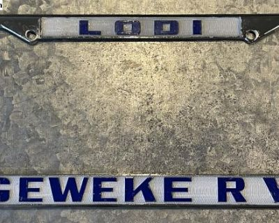 Lodi CA license plate frame for your Heilite trlr