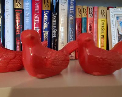 3 small bird candle holders