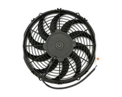 """Fan, 9"""" High Perform 708 Cfm Fan Blows Air (12 Volt) [17-09hp-b]"""