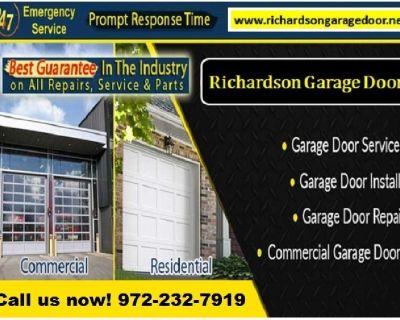 Commercial New Garage Door Installation - Starting $25.95   Richardson Dallas, 75081 TX