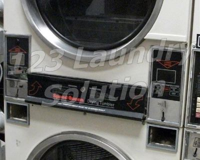 High Quality Speed Queen Stack Dryer 30LB 120V Electronic Control STD32DG Almond Finish Used