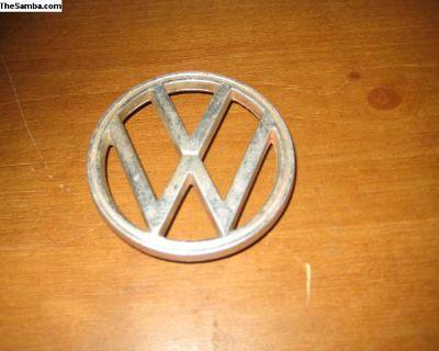 VW emblem 3 prong 3-1/4 inch diameter