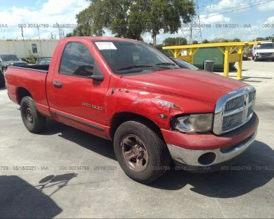 Salvage Red 2004 Dodge Ram 1500