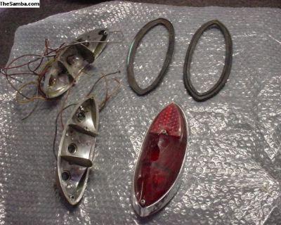 68 Ghia Rear Bulb Holders, Lens And Gaskets
