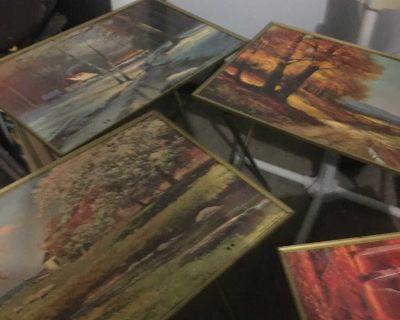 Vintage folding tables- Robert Wood