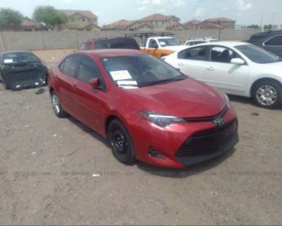 Salvage Red 2018 Toyota Corolla