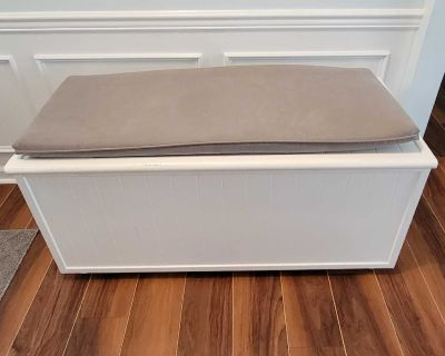 Custom Blanket / Storage Chest with Seat Cushion or Cat Litter Box