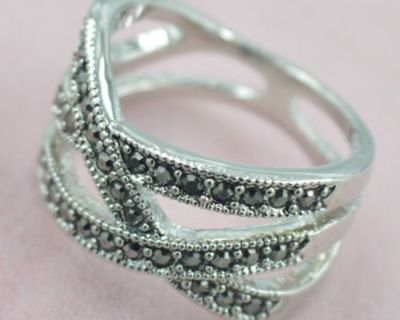 New - Marcasite Band - Size 8