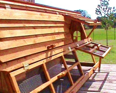 5 foot tall portable 2-12 chickens coop hen house- a video shows how we winterize them