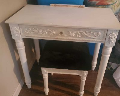 Vanity table with stool. MISSING MIRROR