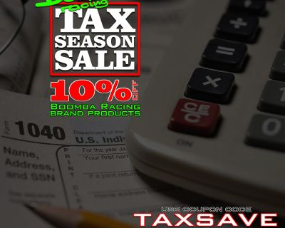 Boomba Racing 2021 Tax Sale!